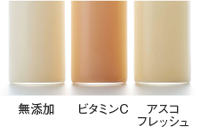 アスコフレッシュ_応用例_乳性飲料の色調変化(40℃、2週間)