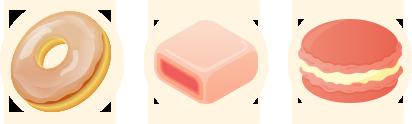 結晶を利用した菓子